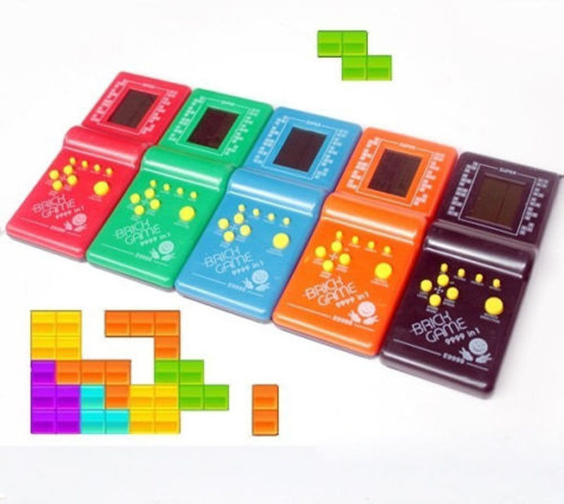 High Light Childhood Developmental Tetris Game Hand Held Electronic Toys Handheld Game Players(China (Mainland))