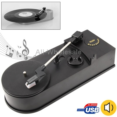 EC008B, USB Mini Phonograph/ Turntable/ Vinyl Turntables Audio Player, Support Turntable Convert LP Record to CD or MP3 Function(China (Mainland))