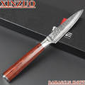 2015HOT 73 layers 3 5 fruit knife Japanese Damascus steel kitchen paring knife knife with Color