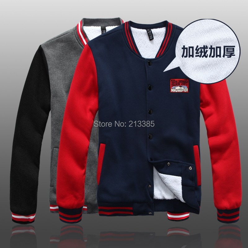 2015 New winter men's clothing thick man hoody sweatshirts fashion throwback baseball jerseys casual hoodies men - Man Show store