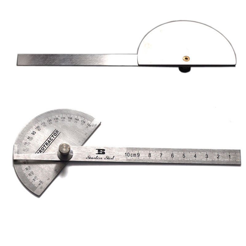 free shipping BOSI 6 metric steel protractor 180 degree adjustable measuring tool<br><br>Aliexpress