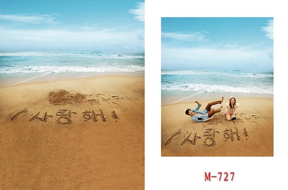5X7ft Sea beach new 2015 cloth photography vinyl backdrop studio background photo wedding background backgrounds(China (Mainland))