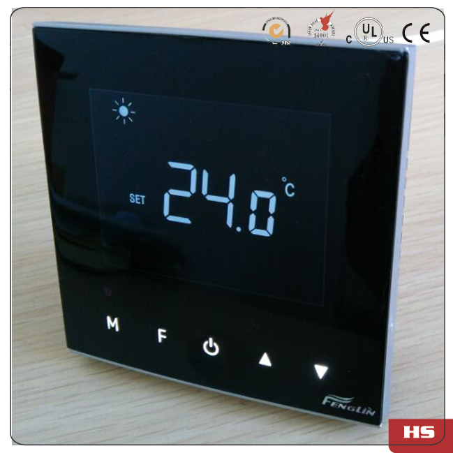 Гаджет  Capacitive touch buttons LCD Display 3 Speed Fan Coil Units Thermostat For air conditioning cooling heating None Строительство и Недвижимость