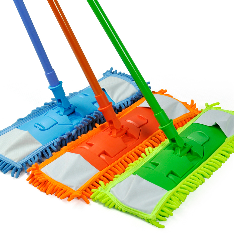 SZS Wholesale New Extendable Microfibre Mop Cleaner Sweeper Wet Dry - Green(China (Mainland))