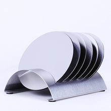 Stainless Steel Coffee Cup Coasters Pad Holder Pot Bowls Round Insulated Heat Mat with Rack Coaster holder Free Shipping(China (Mainland))