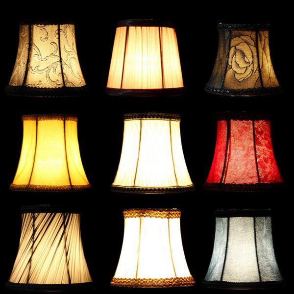 Crystal Wall Lamp Shades : Fabric Cloth Floral Lampshade European High Grade Crystal Candle Chandelier Lamp Shade Wall ...