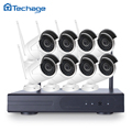 New 8CH Wireless NVR WIFI CCTV System P2P 8pcs 720P 960P 1080P IP Camera IP66 Waterproof