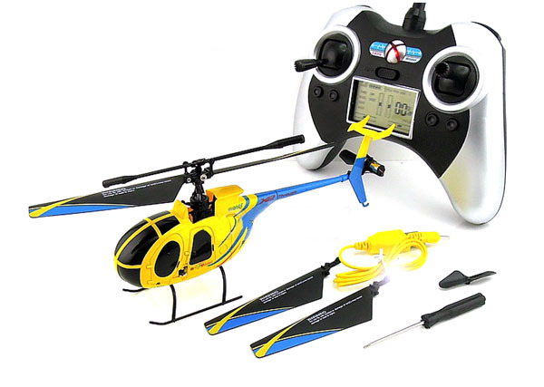 Hot Sale ! 4CH Mini 2.4GHz Wireless RC Remote Control Helicopter With Gyro Yellow 6035 Free shipping()