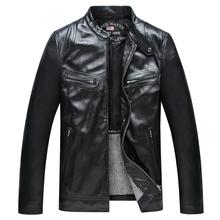 Factory 2016 New Men's Spring/Autumn Genuine Leather Jacket Real Natural Soft Sheepskin Motorcycle Biker Man Coat Male Jaqueta(China (Mainland))