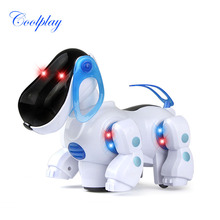 CP959 Intelligent Electronic Walking Pet Robot Dog Puppy Baby Friend Partner Gift With Music Light Dog Toys For Children Kids(China (Mainland))