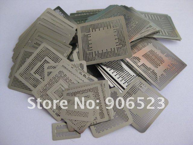 Free shipping INTEL NVIDIA ATI VIA chips stencils 268pcs/set heat directly BGA reballing stencils(China (Mainland))