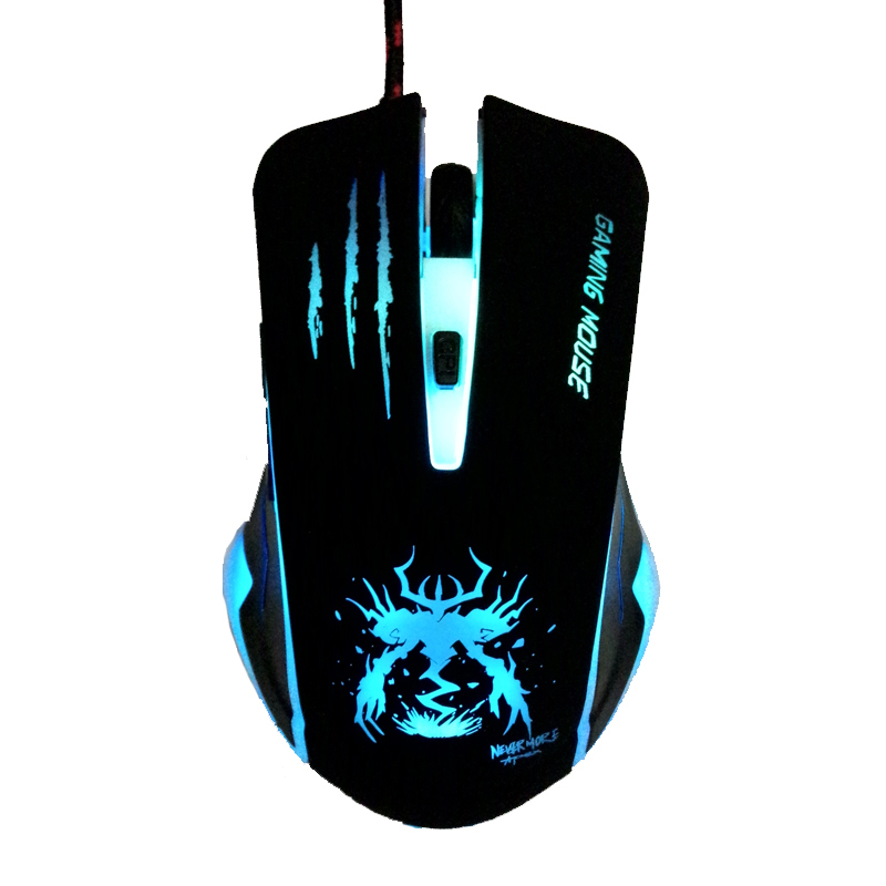 New Arrival Optical USB LED Lights Computer PC Game Gamer Gaming Mouse Mice Mause For Dota 2 CS Air Steelseries Games Car Laptop(China (Mainland))