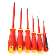 6PCS/bag VDE Electricians Screwdriver Set Tool Electrical Fully Insulated High Voltage Multi Screw Head Type Wholesale