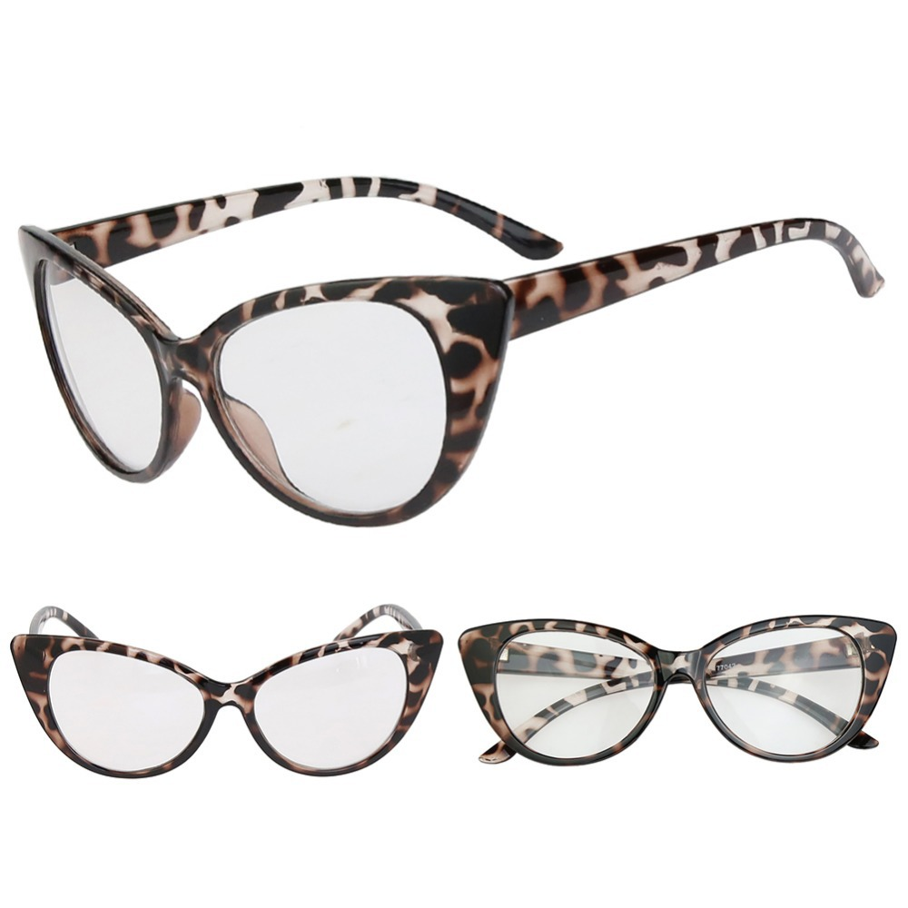 Hot Fashion Retro Sexy Women Eyeglasses Frame Cat Eye Clear Lens lady Eye Glasses Drop Shipping