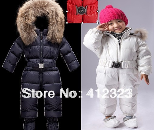 2015 new baby boys girls winter warm romper jumpsuits with foot gloves kids infant clothing wear thick rompers