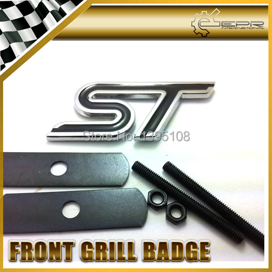 Car Styling For Ford ST Black Front Grill Badge Emblem MUSTANG FIESTA ESCORT FALCON(China (Mainland))