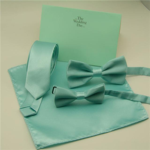 Мода галстуки-бабочки для мужчин дети твердые монетный двор зеленый с бантом связывает ...