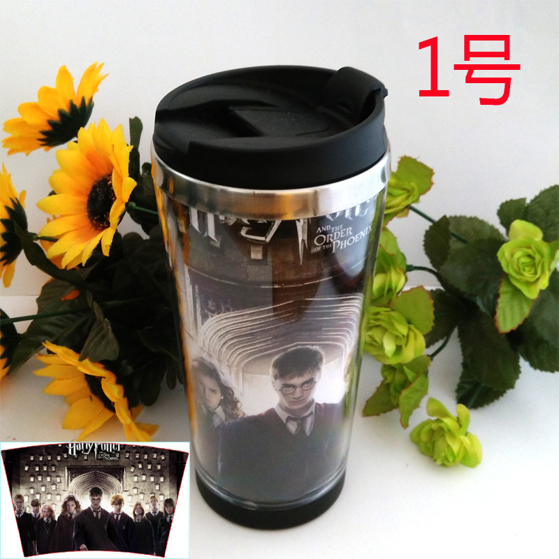 68 system Transformers Minecraft Harry Potter Double Wall MUG Coffee Mug 450ml Creative Travel Cup Stainless steel insulated(China (Mainland))