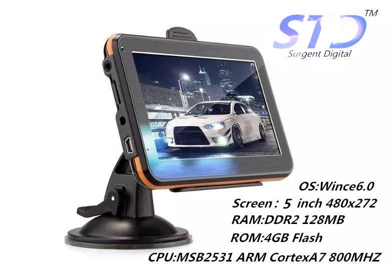 5 inch GPS navigation with 128M/4GB,Portable car navigator support Multi Language/IGO8 IGO9 NAVITEL maps of all country(China (Mainland))