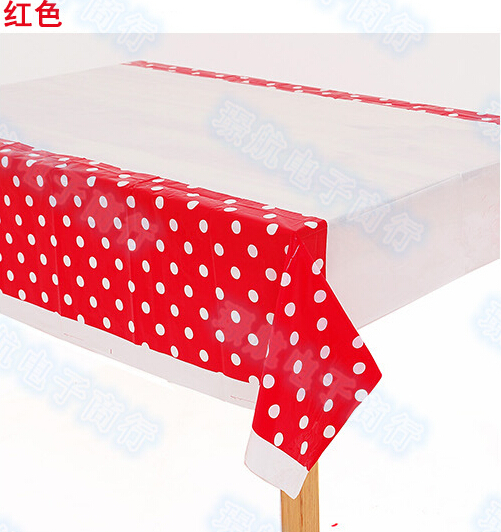 2pcs/lot 108cmX180cm Wedding Party Supplies Decorator Tableclothes Holiday Party Favors Happy Birthday Decoration(China (Mainland))