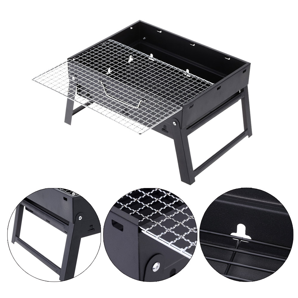 High-quality Folding Picnic BBQ Grill Portable Garden Charcoal barbecue Grill Broiler Outdoor Cooking Tool(China (Mainland))