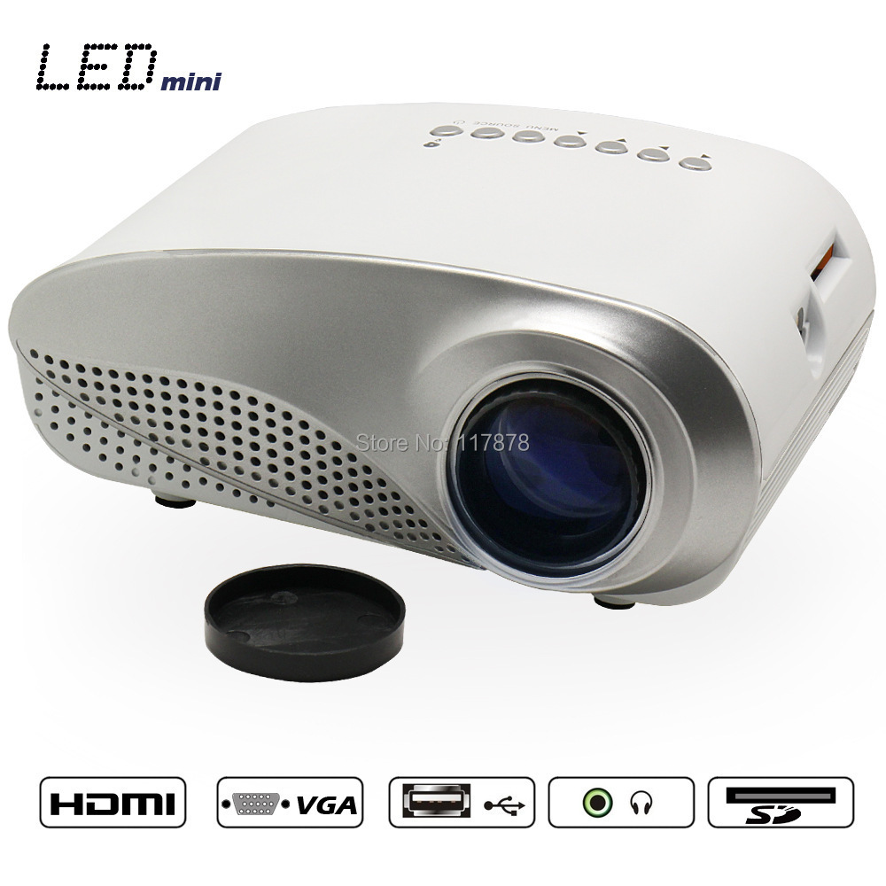 Full hd 1080p digital projector for pc projector mini led for Small hdmi projector