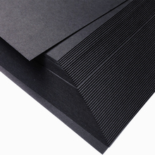 50pcs/lot A4 size 21x29.7cm Kraft/Black card paper 200/250/300/400gsm gift packing cardboard DIY model wedding party decorations(China (Mainland))