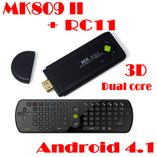 by dhl or ems 50 pieces TV Stick MK809 II Android 4.1 Mini PC HDMI Dual core 1GB RAM 8GB Bluetooth MK809II 3D+Fly air mouse RC11(China (Mainland))