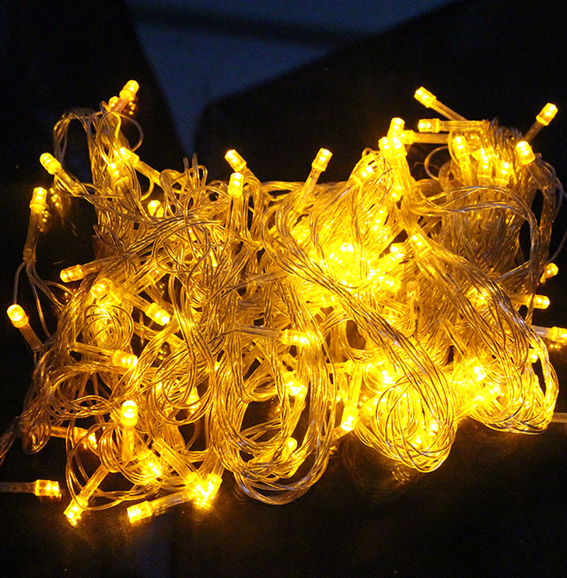 10M 100 LED Strip Light Home Outdoor Holiday Christmas Decorative Wedding xmas String Fairy Garlands Strip Party Lights(China (Mainland))