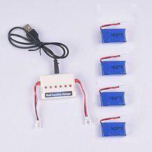 4pcs 3.7V 600mAh official Battery and 1to6 charger for syma X9 flying car RC quadcopter drone spare parts