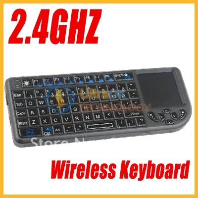 Latest 2.4GHz RF Wireless USB Mini PC Keyboard Multimedia Mouse Touchpad Remote Controller for PC black new free shipping V(China (Mainland))