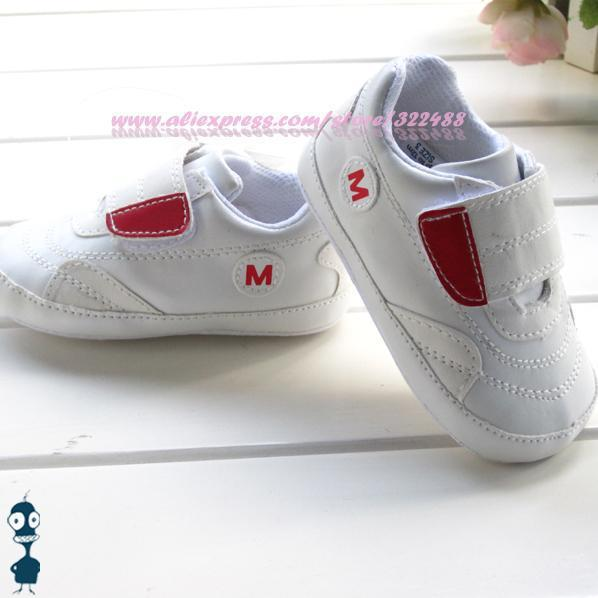 New fashion baby white shoes soft sole non-slip infant footwear comfortable pre-walkers first walkers 3pairs/lot 7039