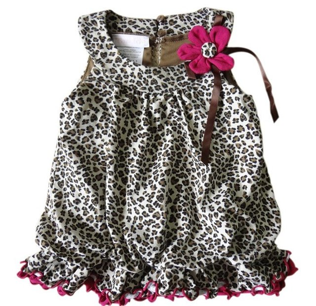 2012 brand new design children girl's leopard tank winter dress/tunic, fashion princss party dresses free shipping