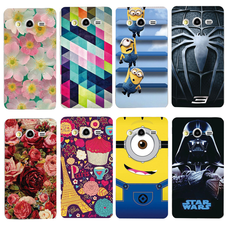 Case For Samsung Galaxy Core 2 G355H Colorful Printing Plastic Hard Phone Cover For Samsung Galaxy Core 2 G355 Phone Cases(China (Mainland))