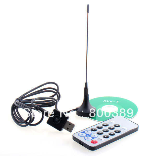Hot Mini DVB-T FM DAB Radio Digital USB 2.0 HDTV TV Stick Tuner Satellite TV Receiver Recorder W/Remote Free Shipping