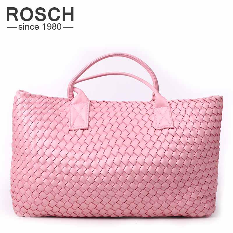 2016 Famous Brands Handmade Women Woven Shoulder Bags High Quality Designer Weave Black Leather Handbags Knitting Trapeze Totes<br><br>Aliexpress
