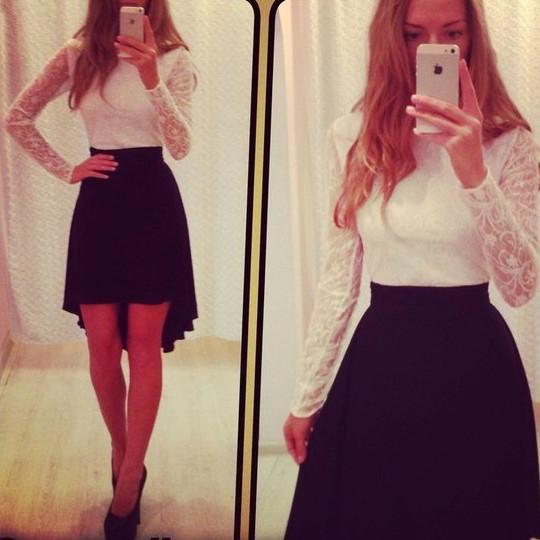 Платье белый верх темный низ