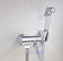 Bathroom Woman Bidet Faucet Chrome Brass Tap Copper Hand Sprayer Filling Valve(China (Mainland))