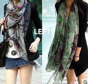 Free Shipping Chinese flowering crab-apple women fashion Cotton and linen Scarf, Silk scarves,Large size(China (Mainland))