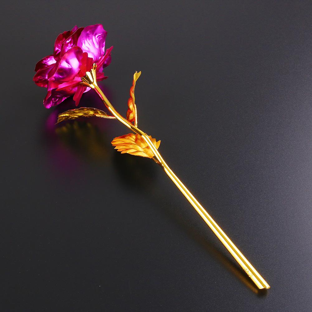 Romantic 24K Golden Rose Flower Wedding Festive Decoration Without Box