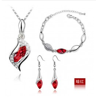 Crystal accessories austria crystal earrings bracelet necklace piece set - 1083 Jewelry Factory Store store