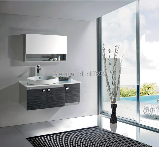 waterproof stainless steel black bathroom vanity mirrored