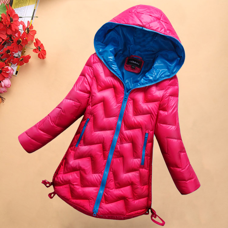Fashion New Baby Girls Down Pure Colour Coat With Cap Hooded Kids Down Jacket Outwear Children Thick Winter 2015 Kids Warm Coat<br><br>Aliexpress