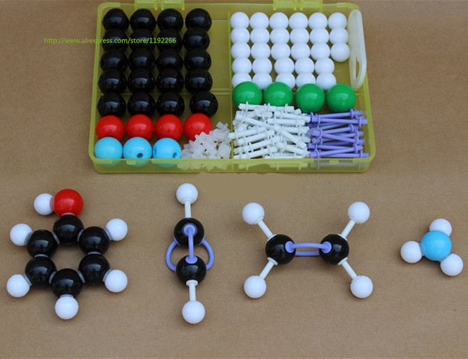 2 SET  structure model of Molecular Chemistry Organic molecules Structure Model Chemistry Teaching free shipping<br><br>Aliexpress