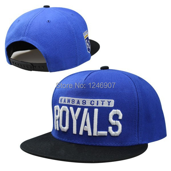 New Arrival Men's fashion KC snapback hats sport Kansas City Royals baseball adjustable caps blue color name embroidery(China (Mainland))