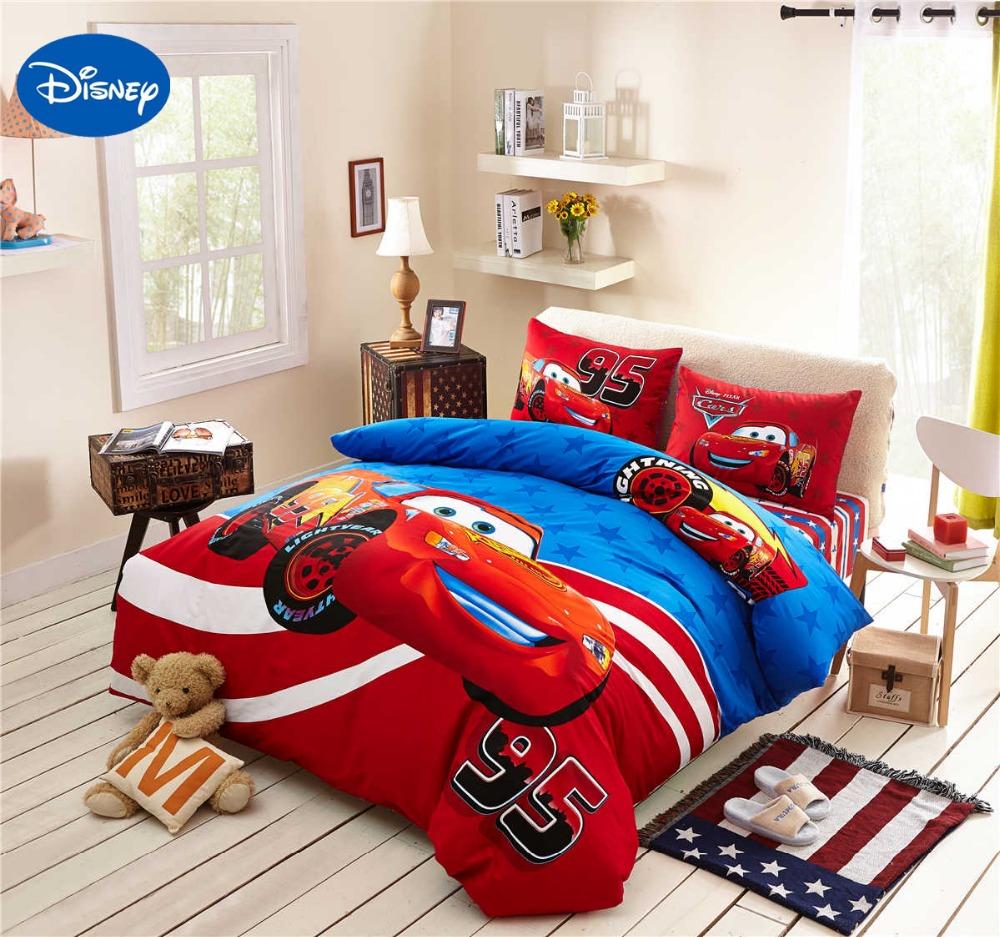 lightning mcqueen cars bedding set cotton bedclothes cartoon disney