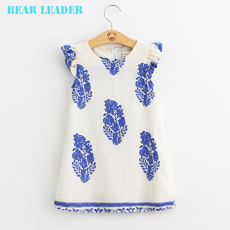 Bear Leader Girls Dresses 2016 Brand Princess Dress Kids Clothes Geometric Pattern Design Kids Dress for Girls Clothes 3-8Y(China (Mainland))