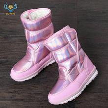 2019 neue Winter mode frauen stiefel mixed natürliche wolle weibliche warme stiefel wasserdichte starke fell voller größe silber dame schnee stiefel(China)