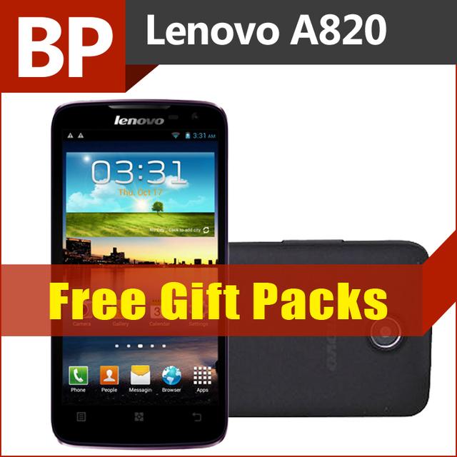 Original Lenovo A820 4.5 Inch IPS Mtk6589 Quad Core Mobile Phone  Russian 1GB 4GB 8.0mp  Multi Language Free Shipping Sg Post