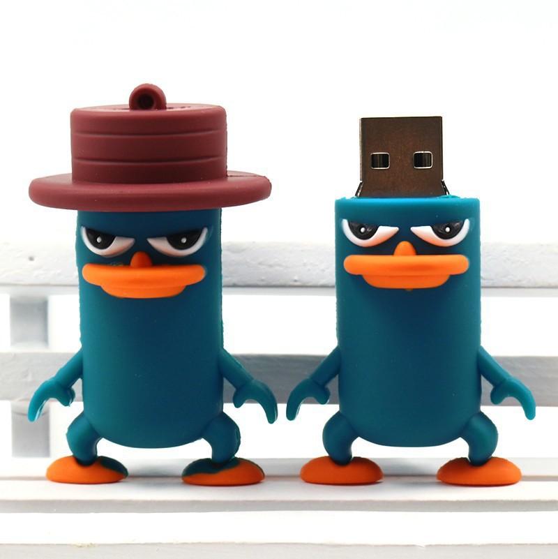 lovely animal flat upper beak duck USB flash drive pen drive pendrive 32 GB 16 GB 8 GB USB 2.0 Flash Memory Stick U Disk(China (Mainland))
